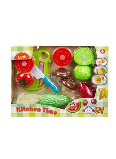 Sunman Sunman 02361 Meyve ve Sebze Kesme Tahtalı Eğitici Oyun Seti Renkli
